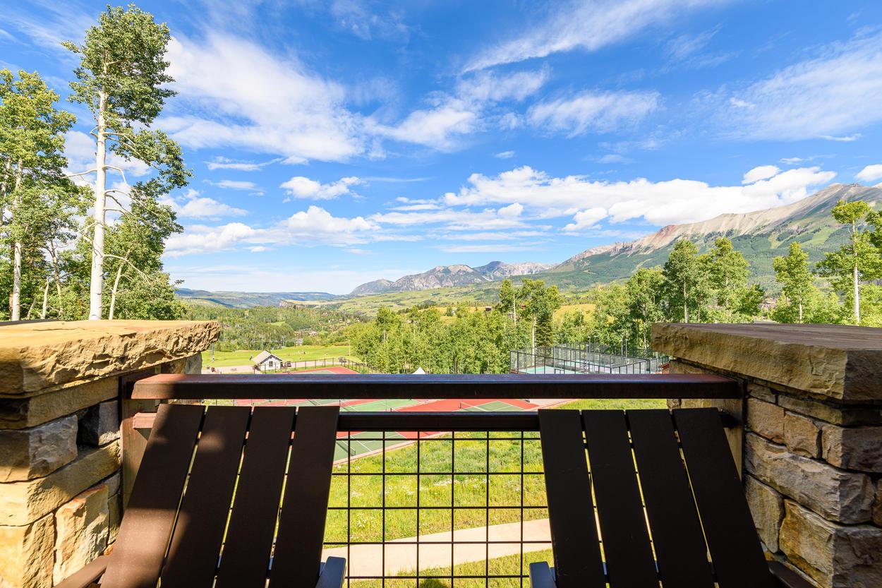 Enjoy amazing views of the ridgeline and valley floor.