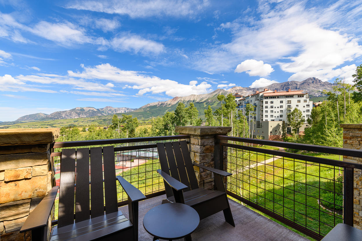 The home has multiple balconies and decks with stunning views.