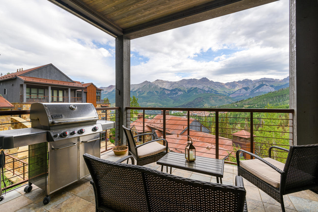 There are few better places to grill and relax outside than this home's balcony.