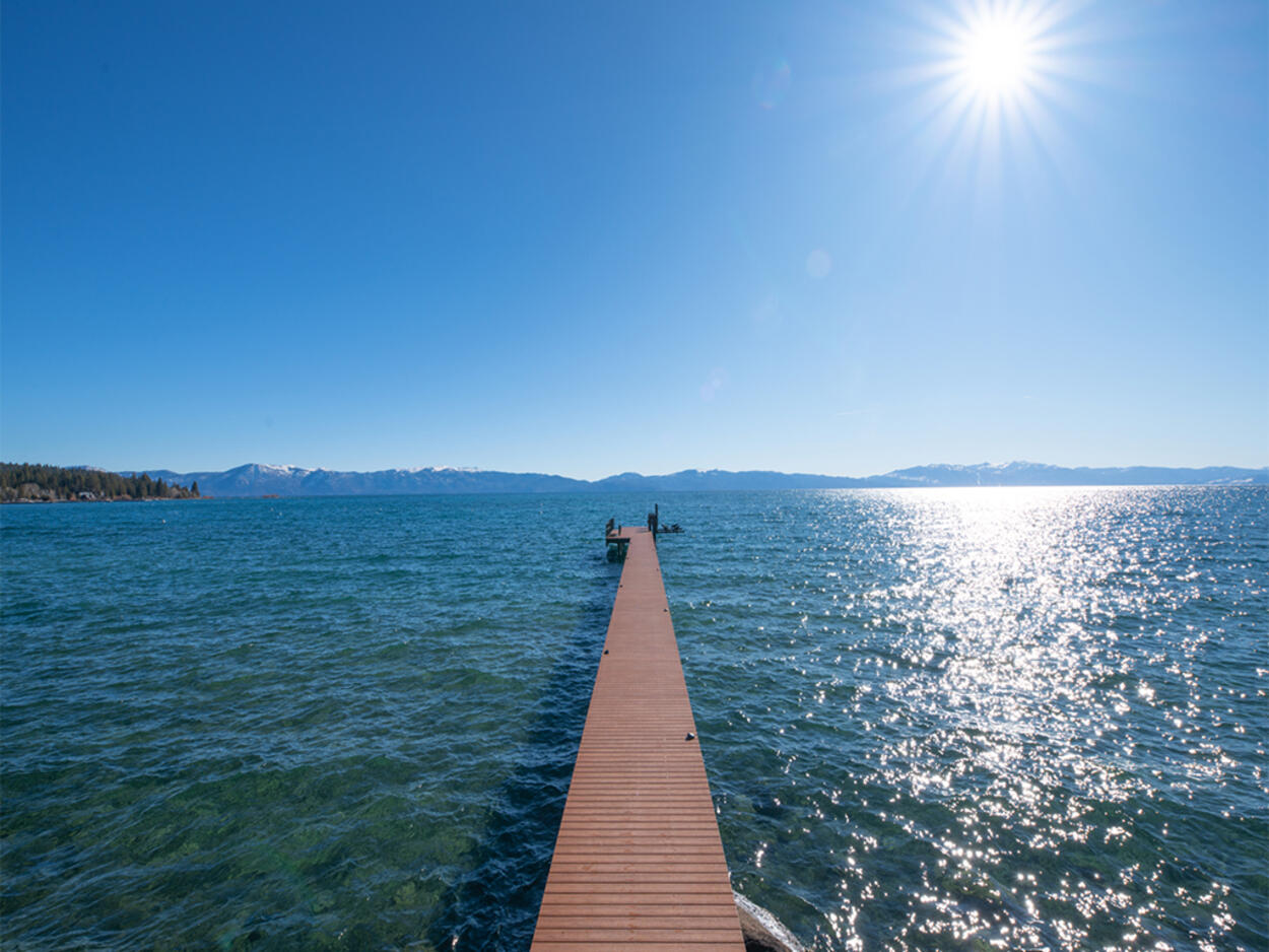 Enjoy your private dock just steps away. You'll also have access to a buoy for mooring a boat.