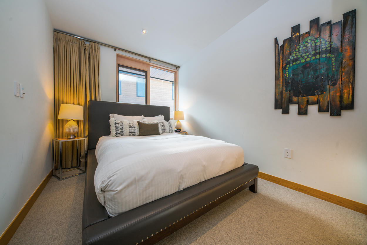 The third guest bedroom comes with a comfy full bed.
