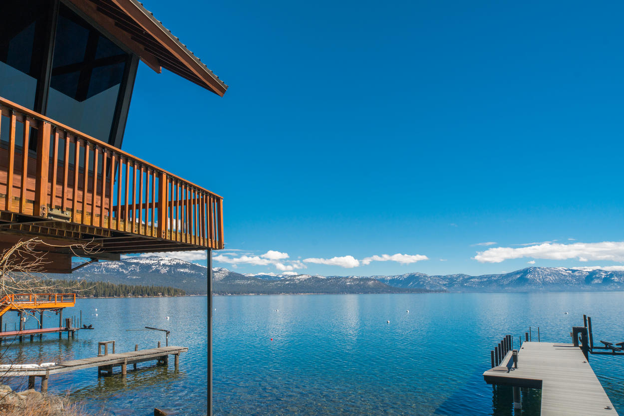 Unparalleled mountain and lake views from all around this home make it truly memorable.