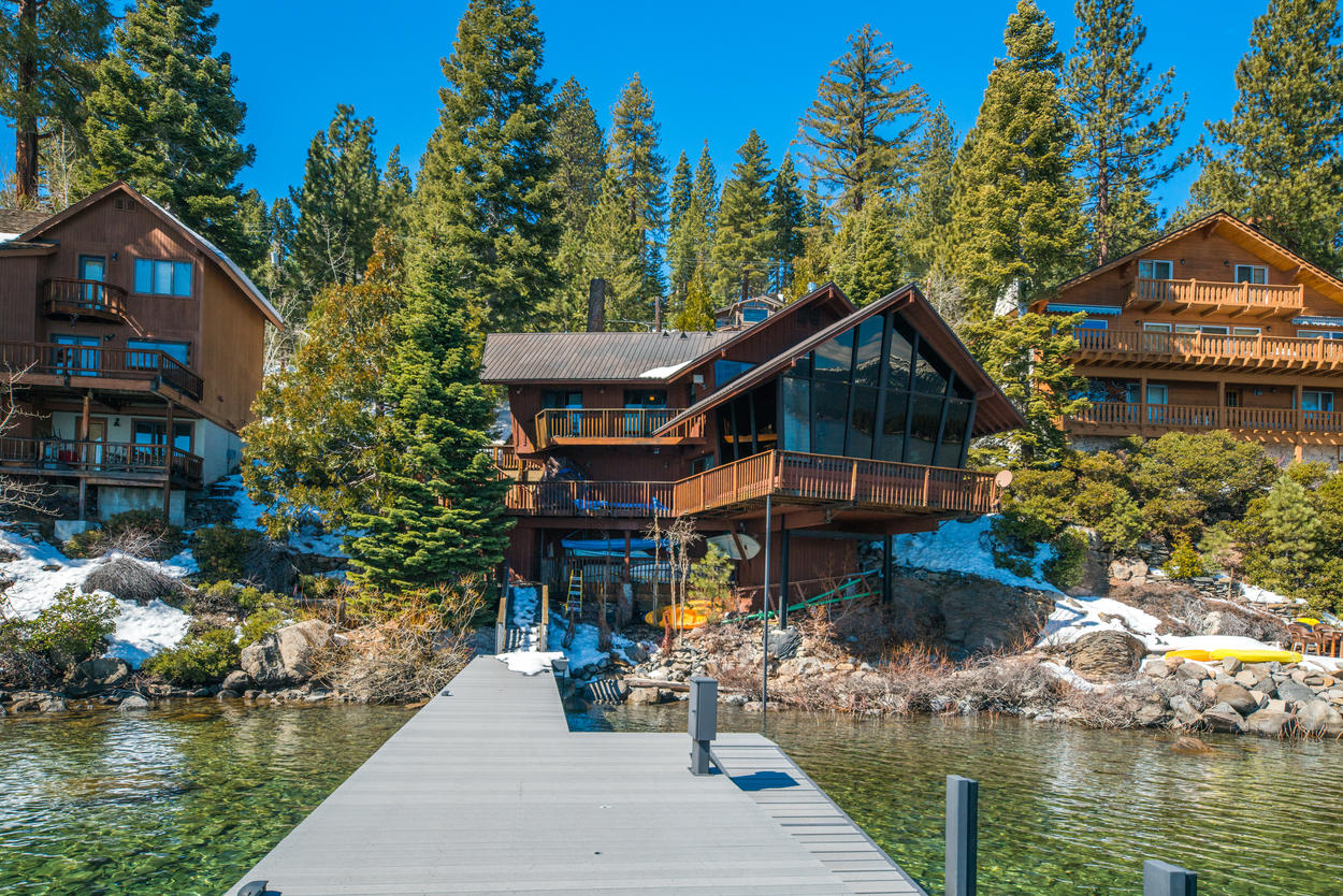 Simply stroll out the back door and down the stairs to reach your private boat pier.
