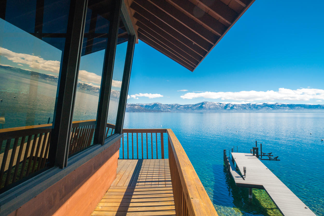 Enjoy all the views of North Lake Tahoe from the wrap-around balcony.
