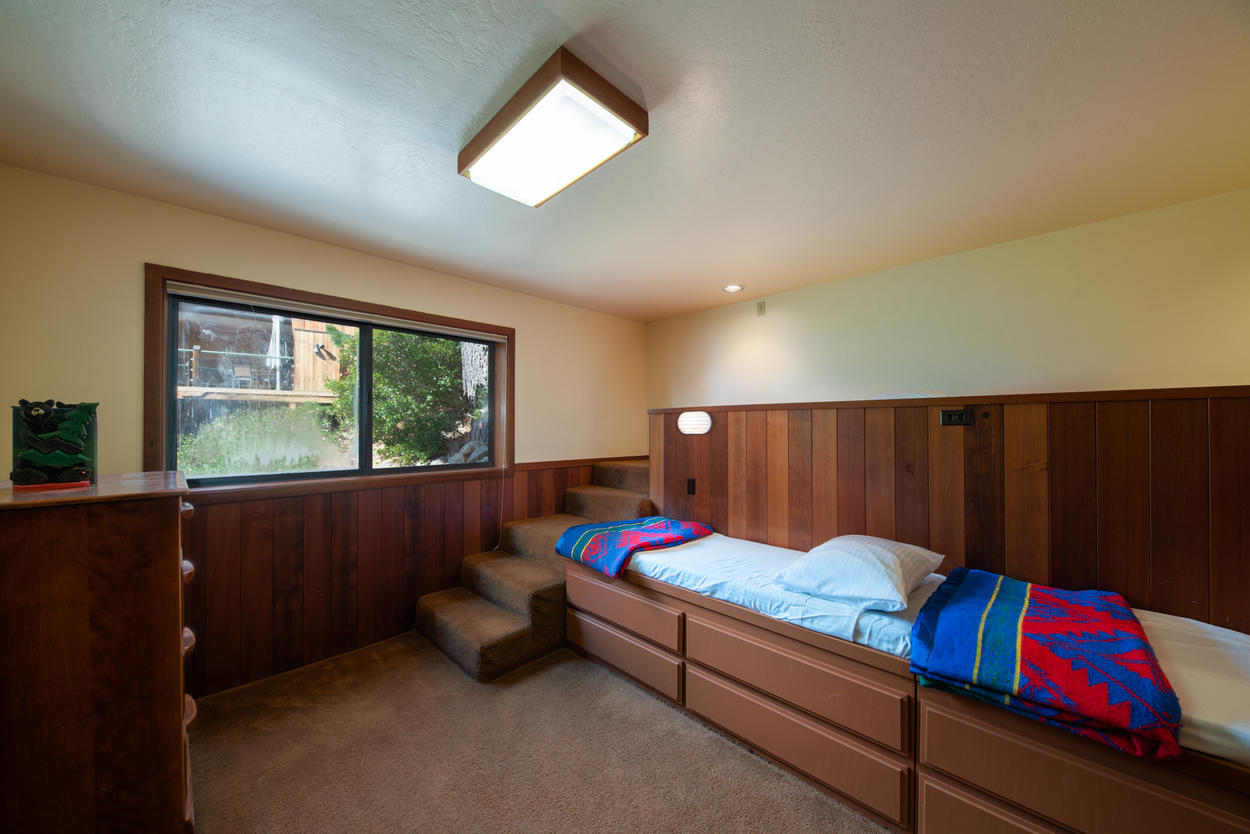 The Bunk Bedroom has steps in place of a ladder, providing easier access for the littlest group members