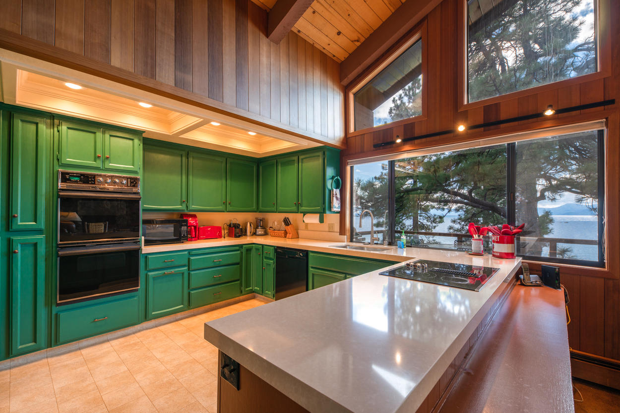 Enjoy the lake views and bright light right from your kitchen