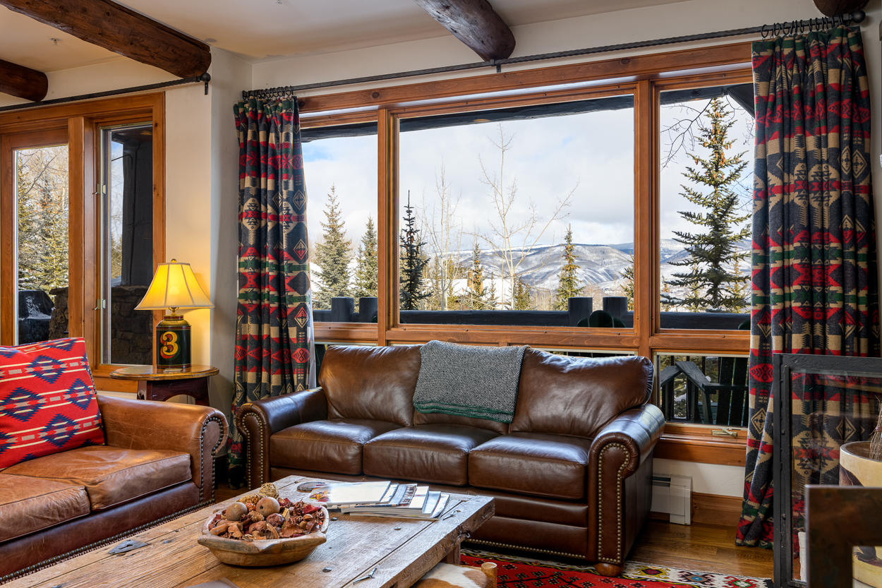 Enjoy the mountain views from indoors