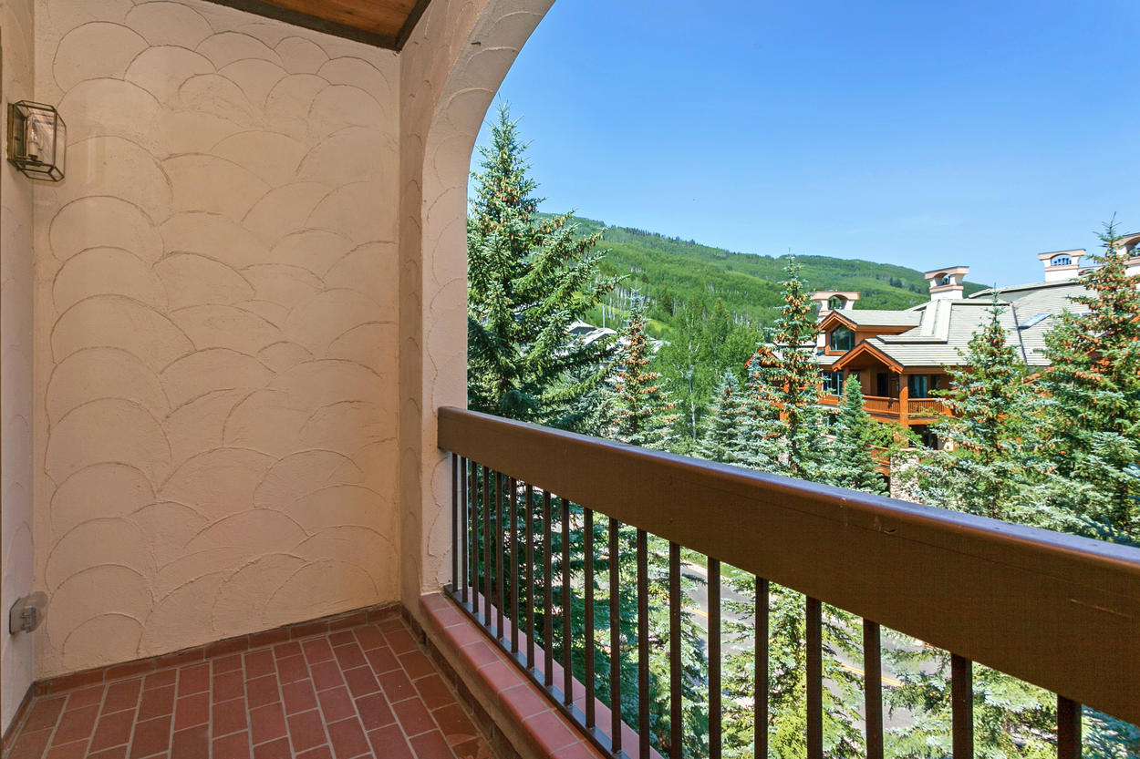 Take in the views from your private balcony.