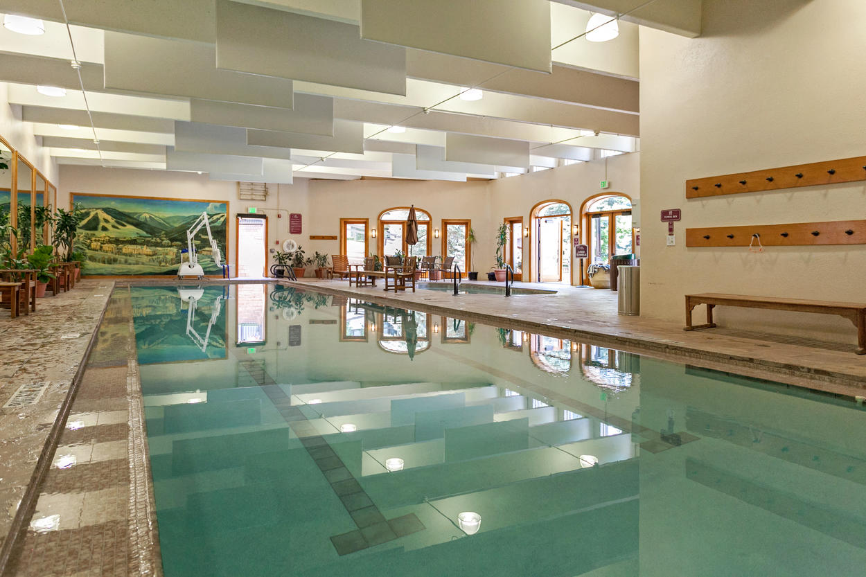 The Charter also offers an indoor lap pool and hot tub.