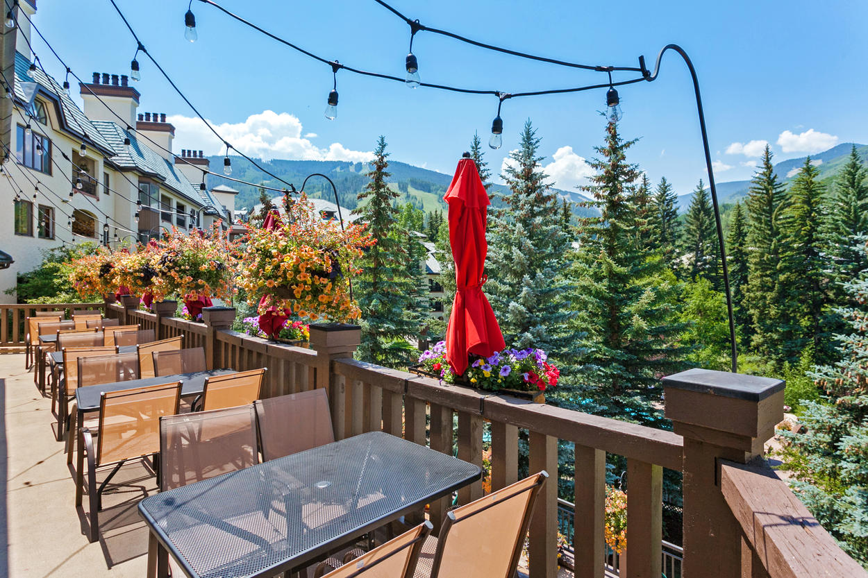 Enjoy a meal at The Terrace or The Black Diamond Bistro restaurants on-site at The Charter.