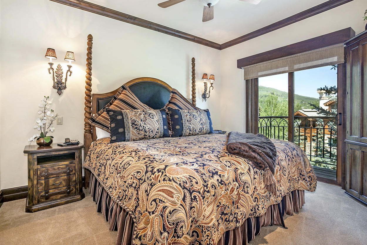The Second Master Bedroom has a king-size bed and its own private balcony.