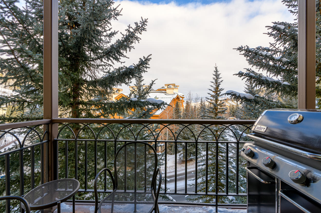 Take in the astounding views from your private balcony, complete with gas grill.