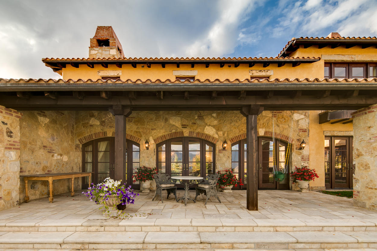 Transport yourself to a classic Italian villa right here in the Rocky Mountains.