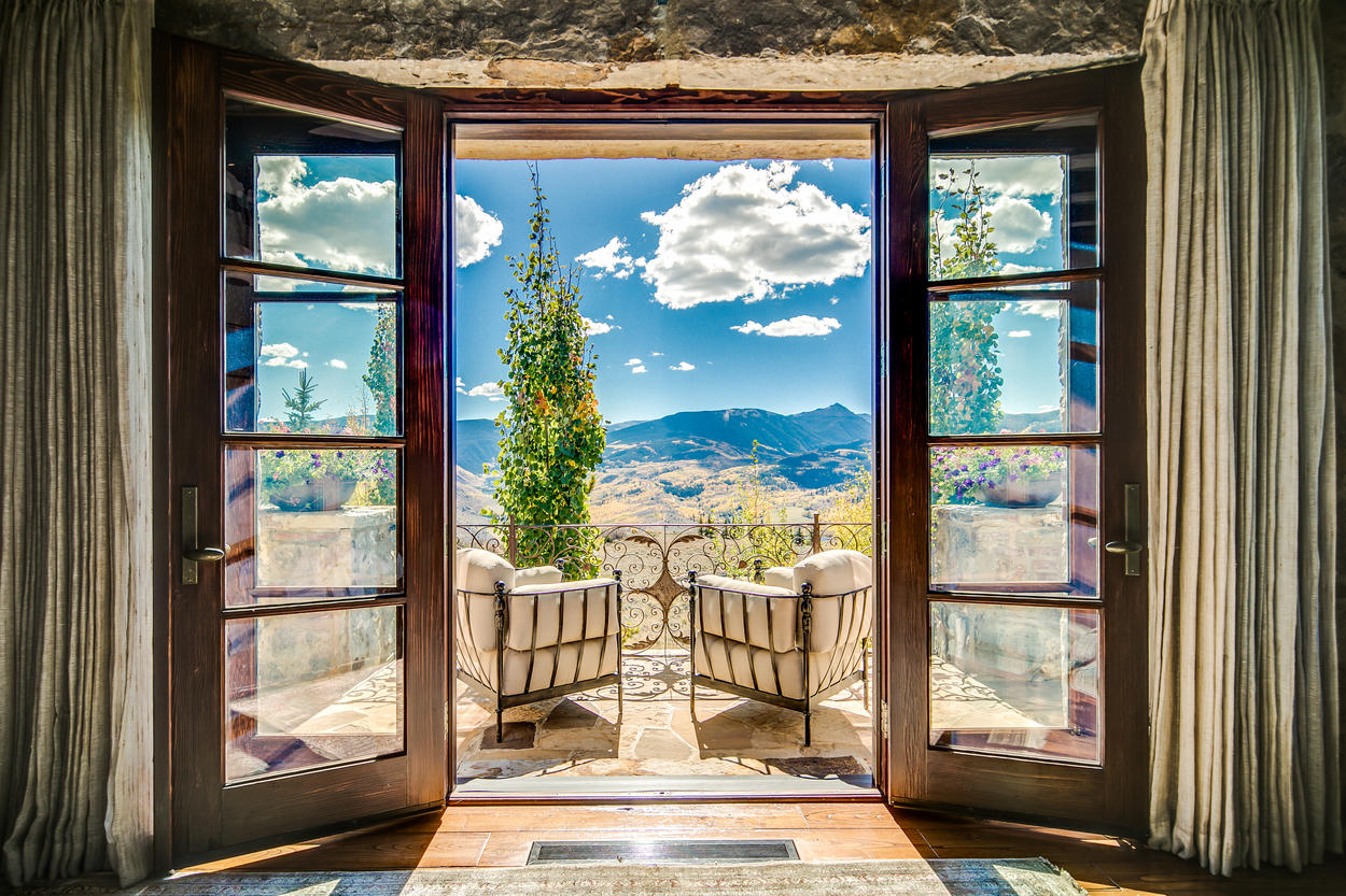 The private terrace in the Master Suite has some of the most awe-inspiring views anywhere in the home.