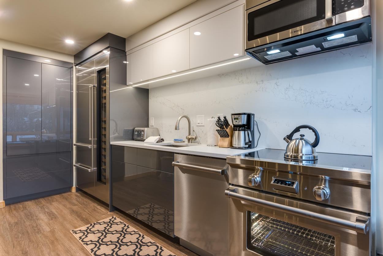 The kitchen features everything you need to prepare a meal for your group.