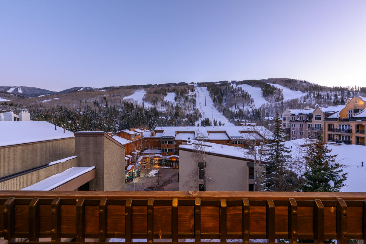 The ice skating, fine dining, and cultural events of Vail Village are just a short walk or bus ride from the home's location in Lionshead.