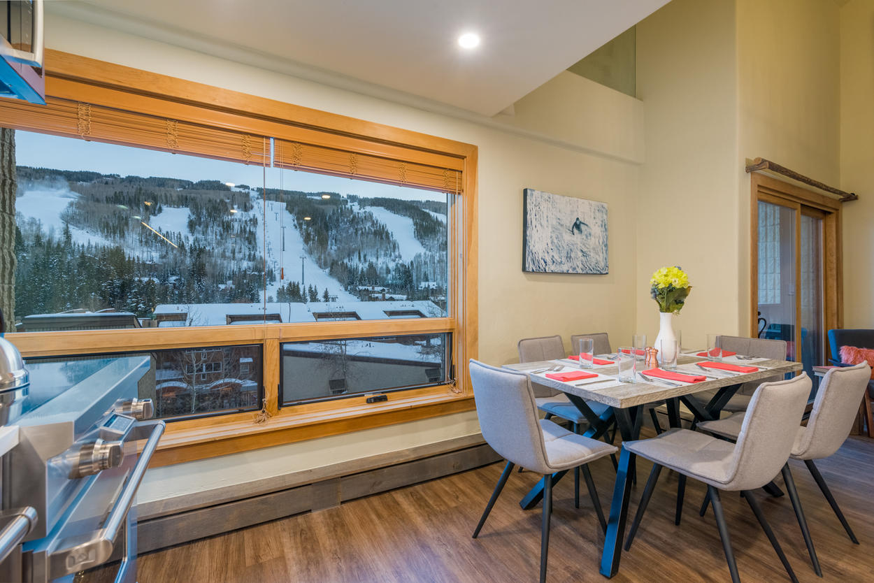 Allow the modern accents of this newly-updated Vail home to elevate your ski vacation to new heights