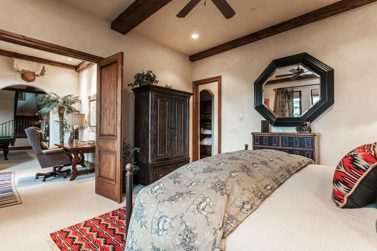 A lower-level Guest Bedroom is located just off of the Family Room