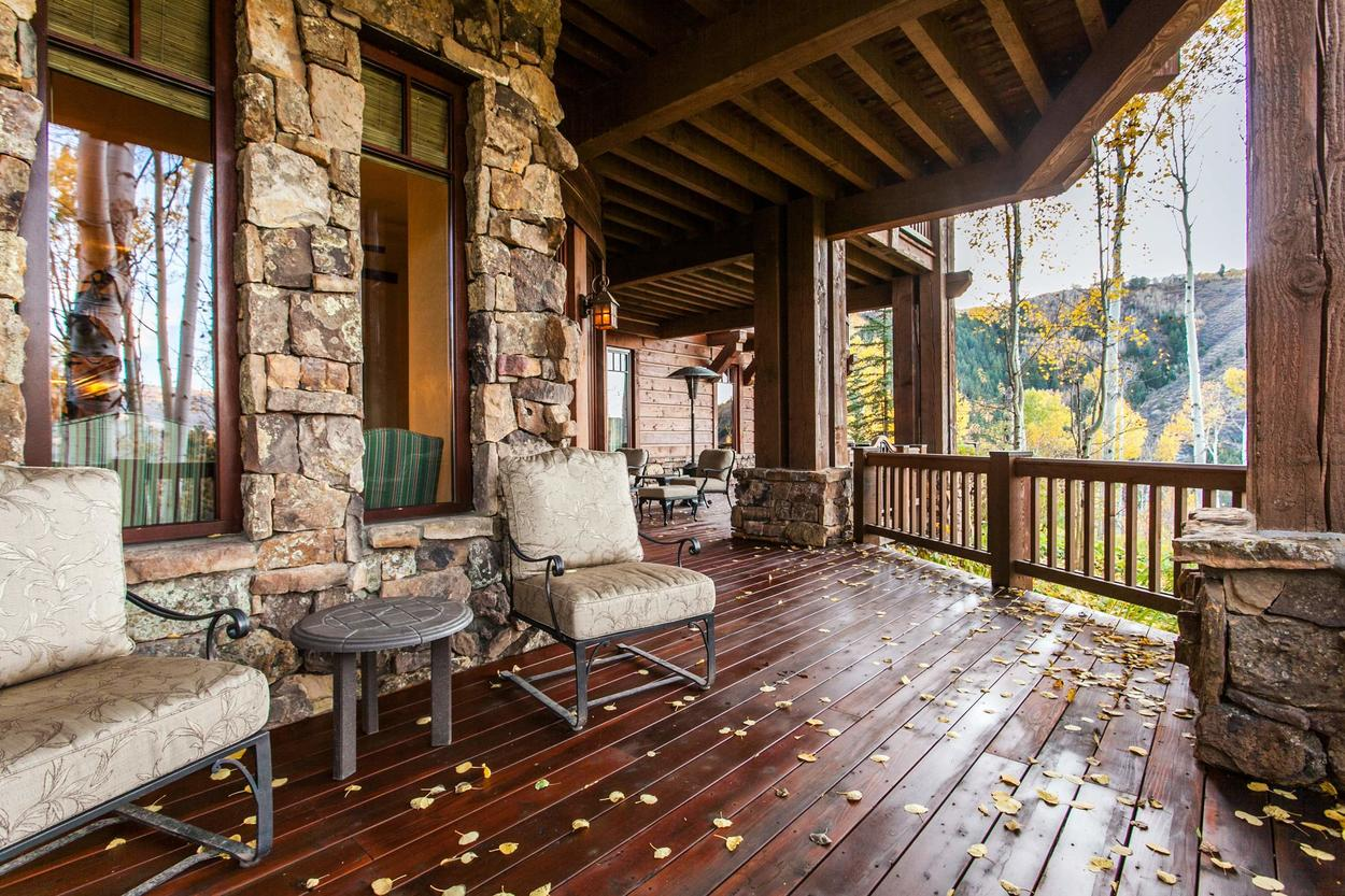 Enjoy watching the aspens shiver on an autumn day from your private deck