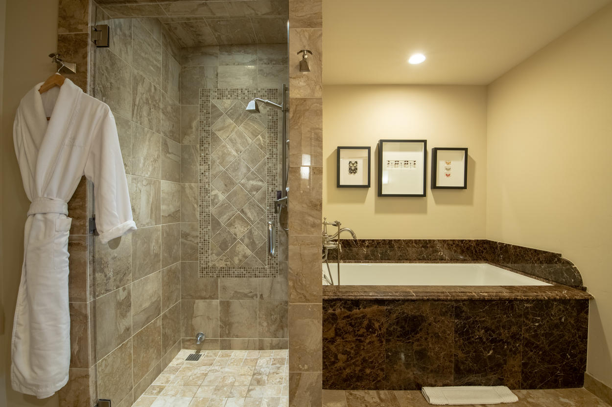 The Master Ensuite has its own soaking tub and walk-in steam shower.
