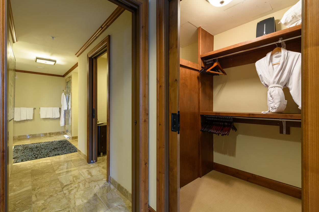 The Master Ensuite also includes a large walk-in closet.