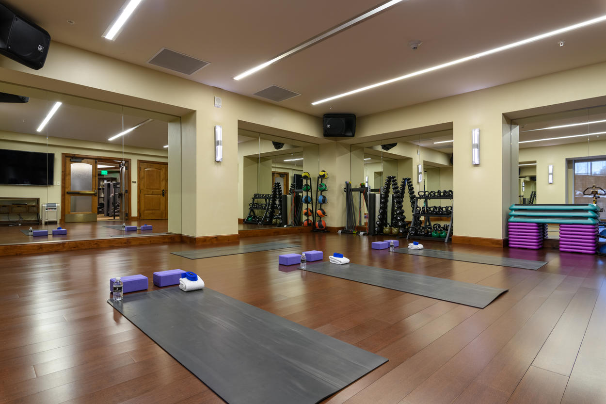 The movement center, which is part of the fitness center, offers its own classes. A schedule will be available for you at the front desk.