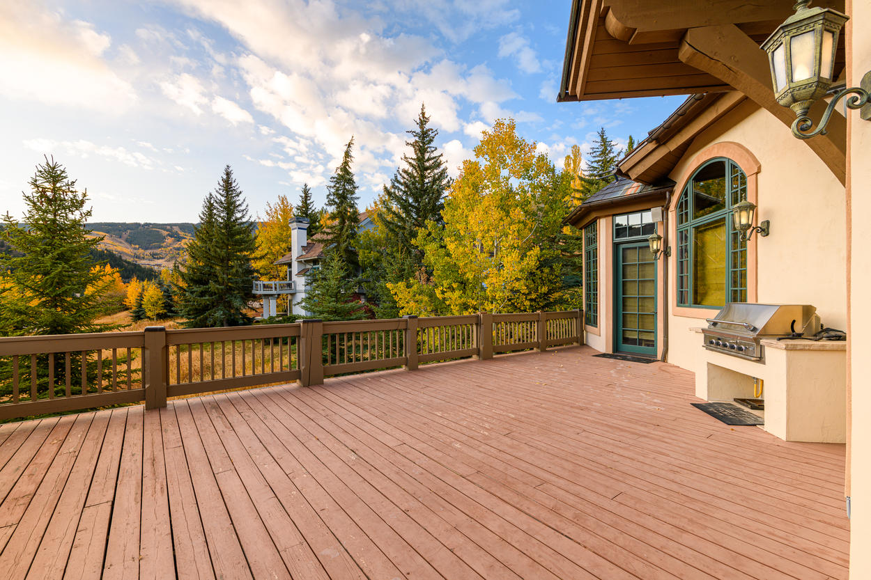Outside the main living area there's a large deck complete with a gas grill and amazing views.