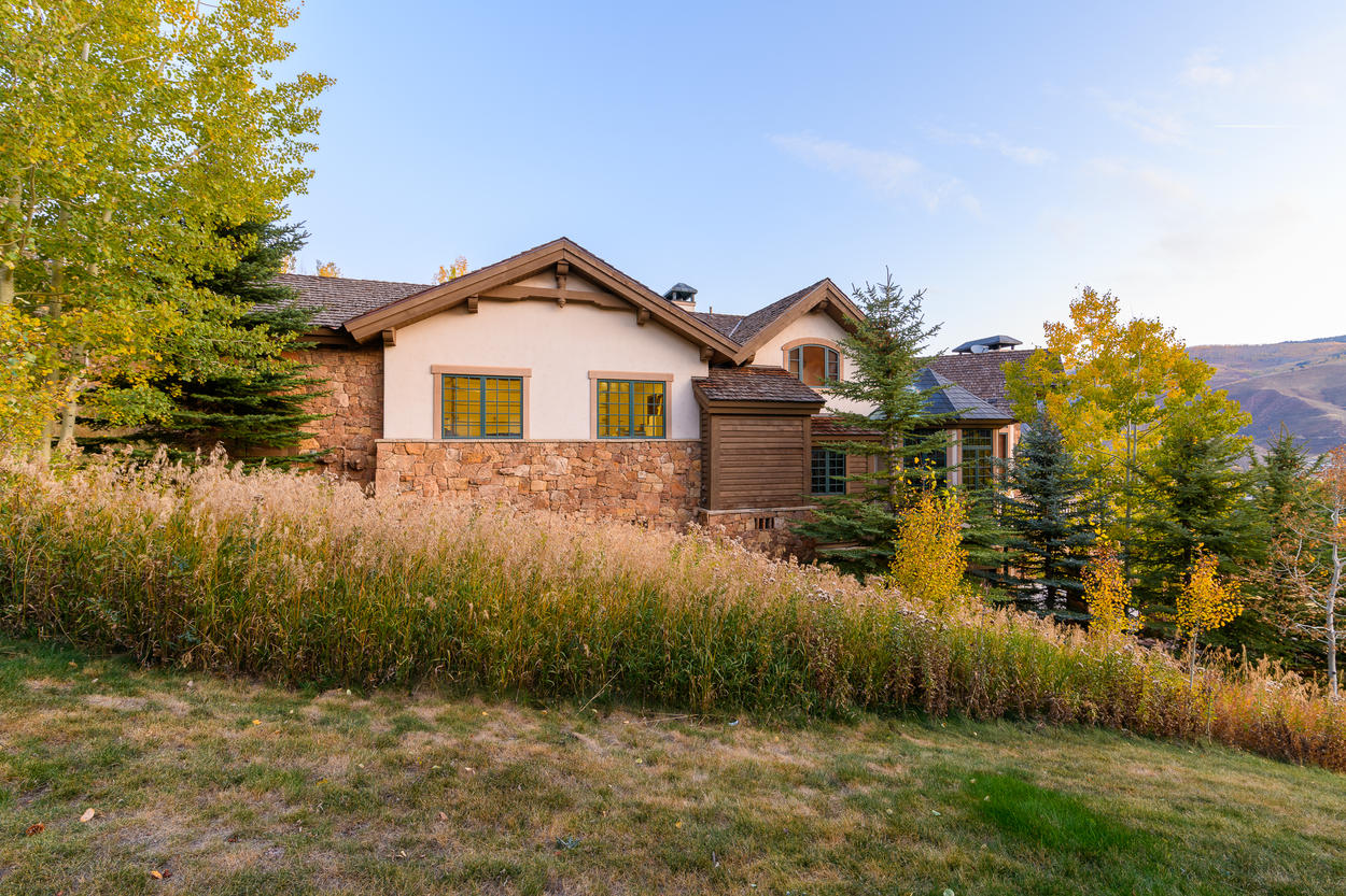 This home is within the Beaver Creek gated community, entered through the town of Avon.
