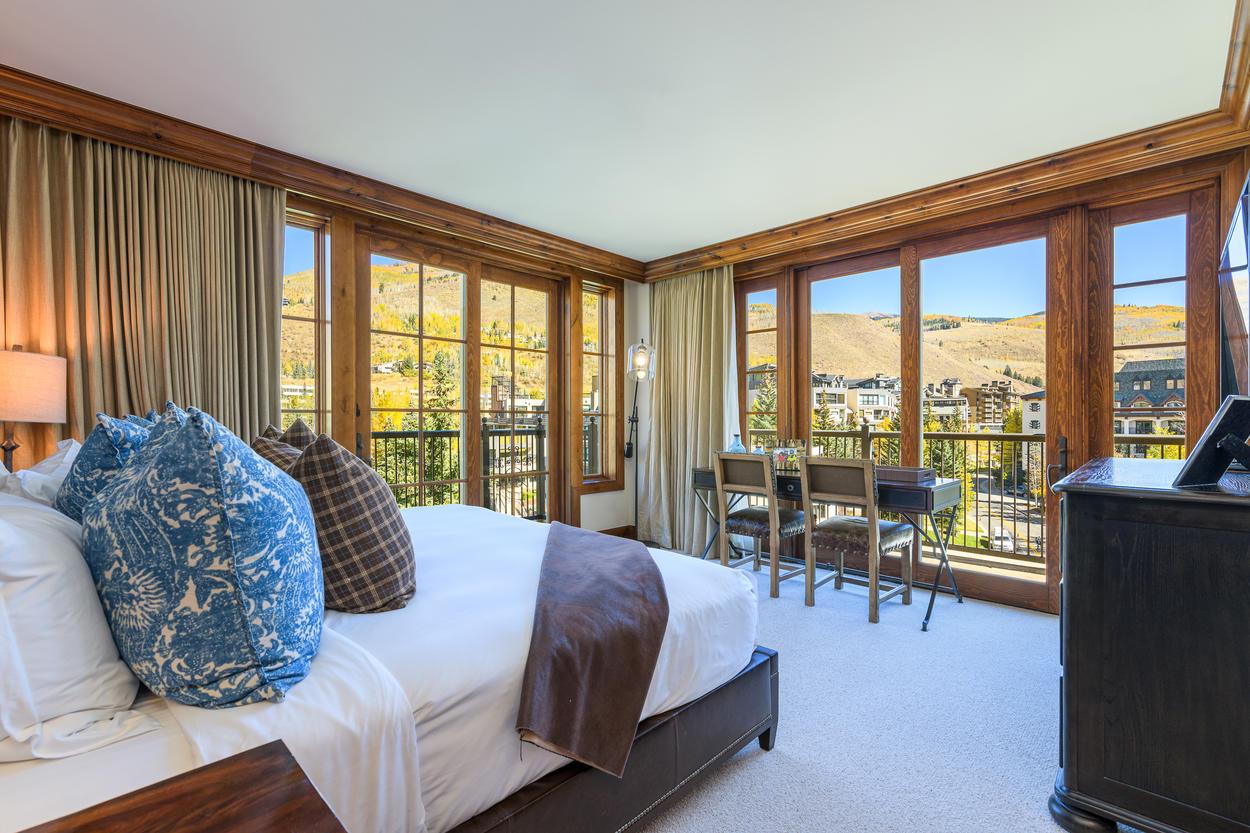 Enjoy exquisite corner views from the Master Bedroom.