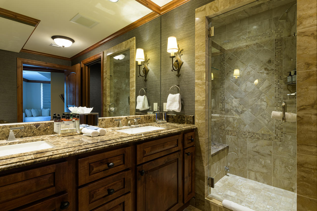 A soothing steam shower is located in the Master Bedroom ensuite.