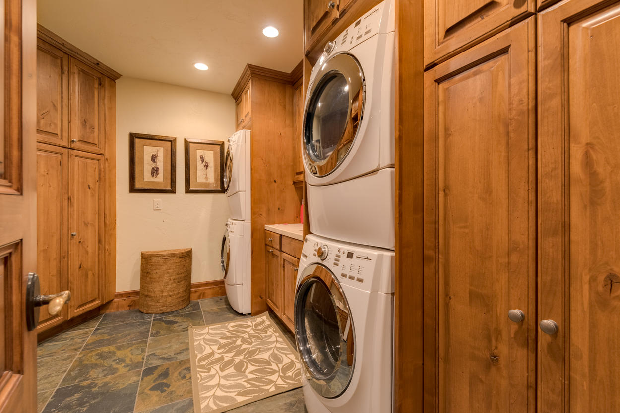 You'll find the laundry room on the second level of the home