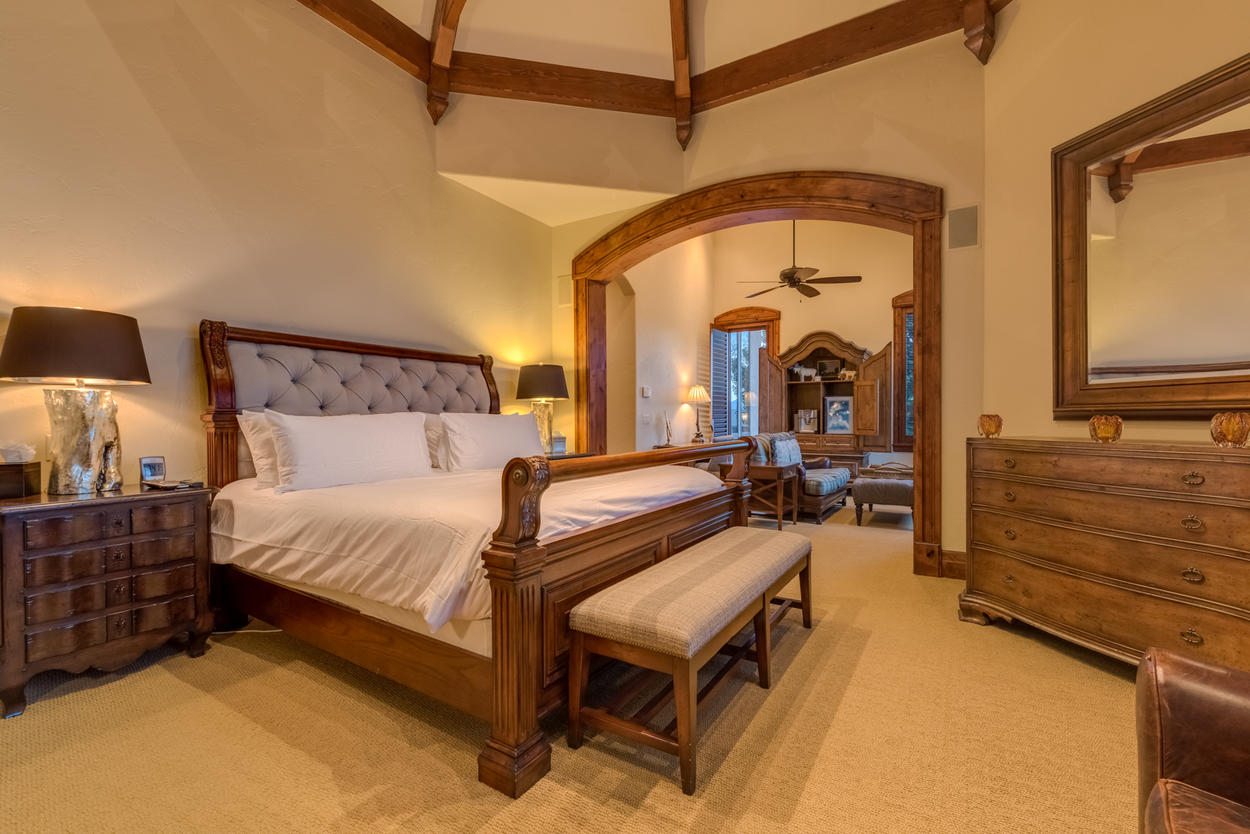 Back up on the third and main level is the very private master suite