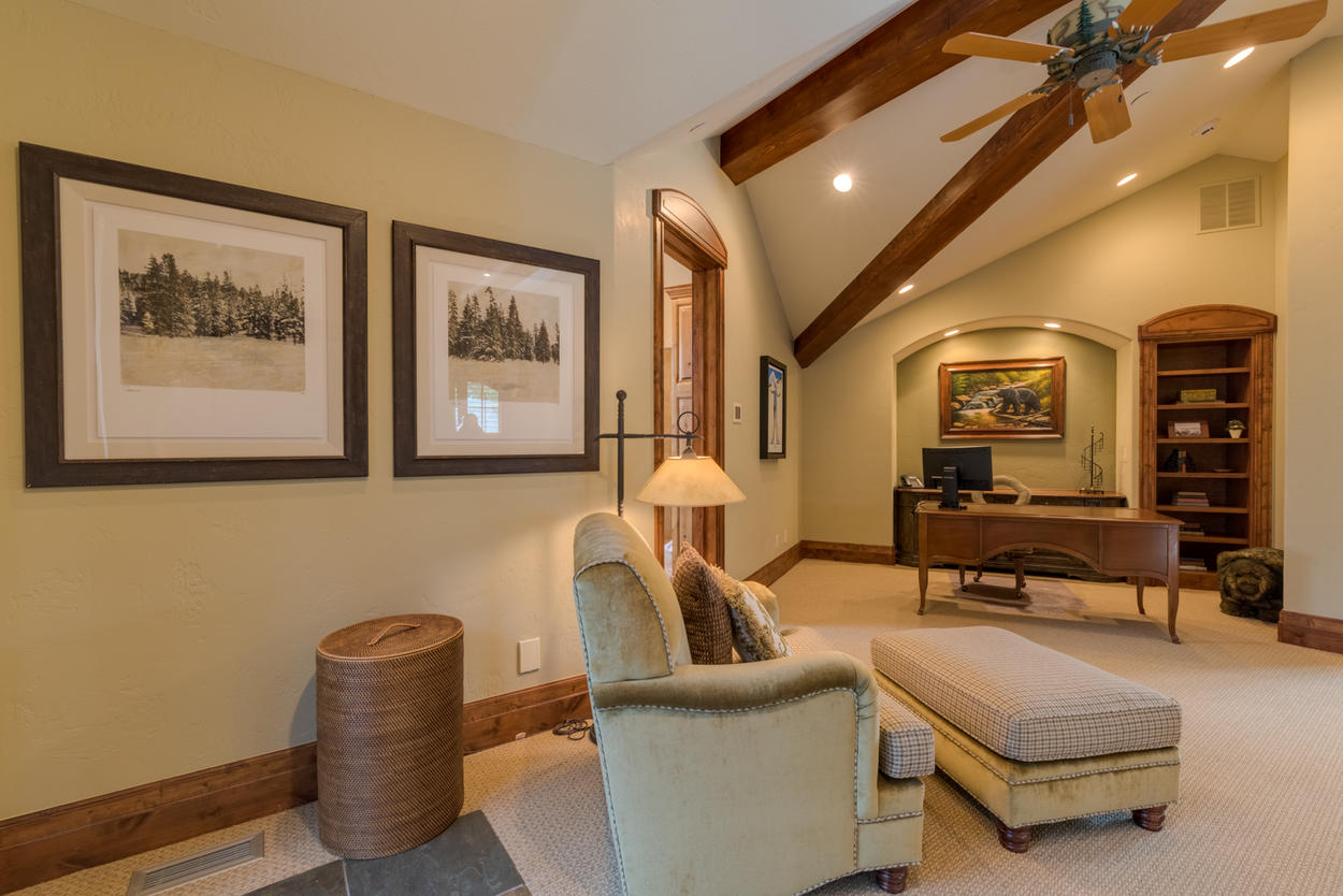 If work is an absolute must, a quiet workspace can be found in this suite as well