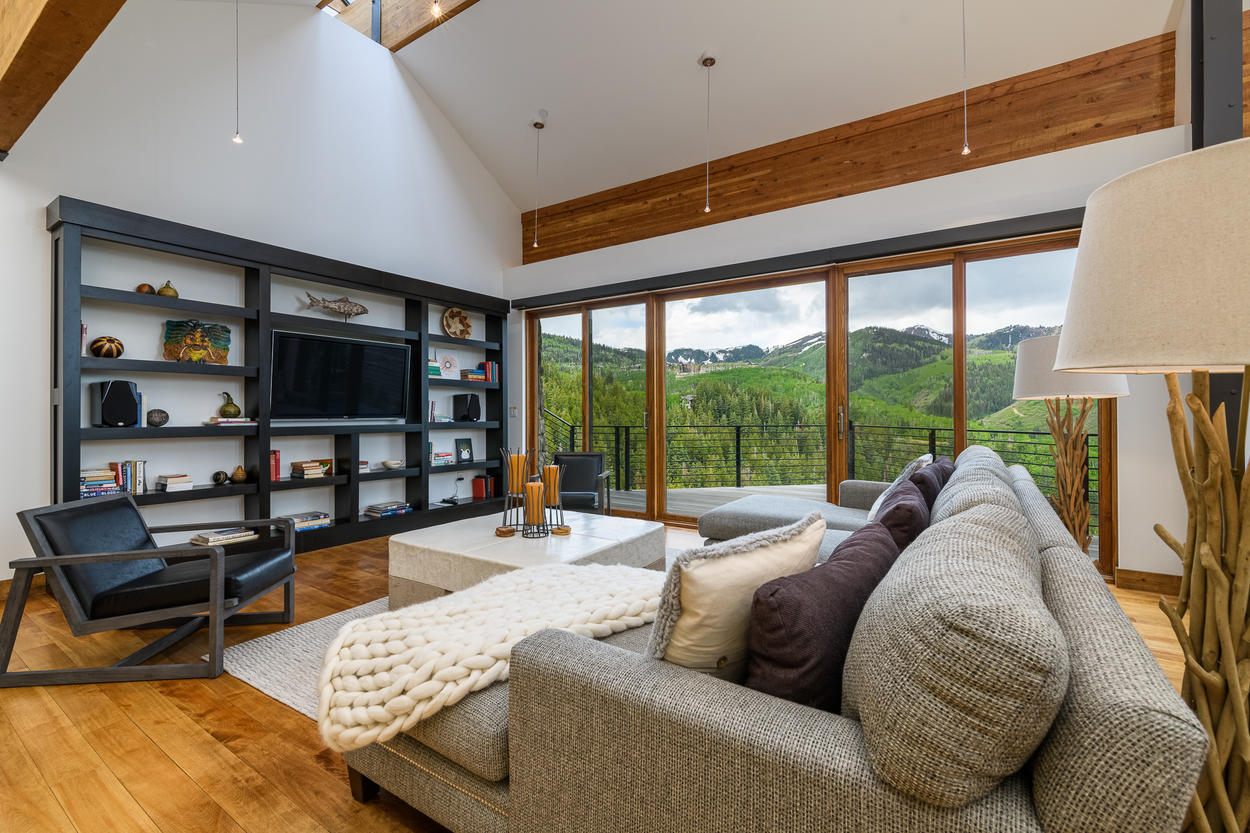 The main living area has incredible views from any angle.