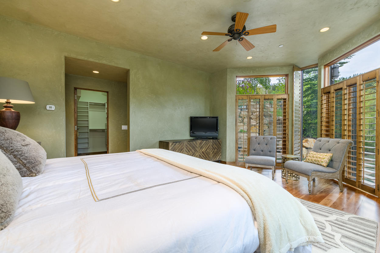 The Master Bedroom is open and airy, and filled with natural light.
