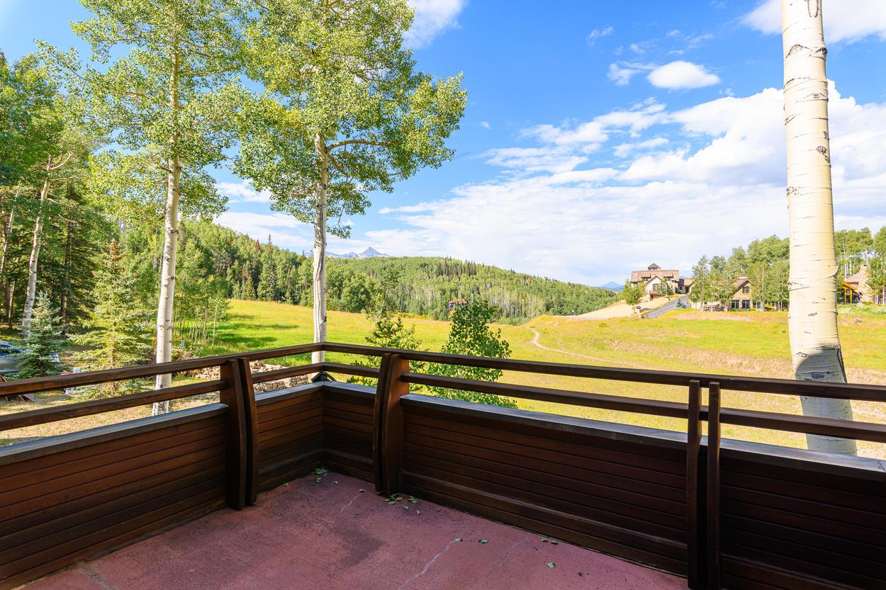 The Master Bedroom balcony has amazing views of the ski slopes.