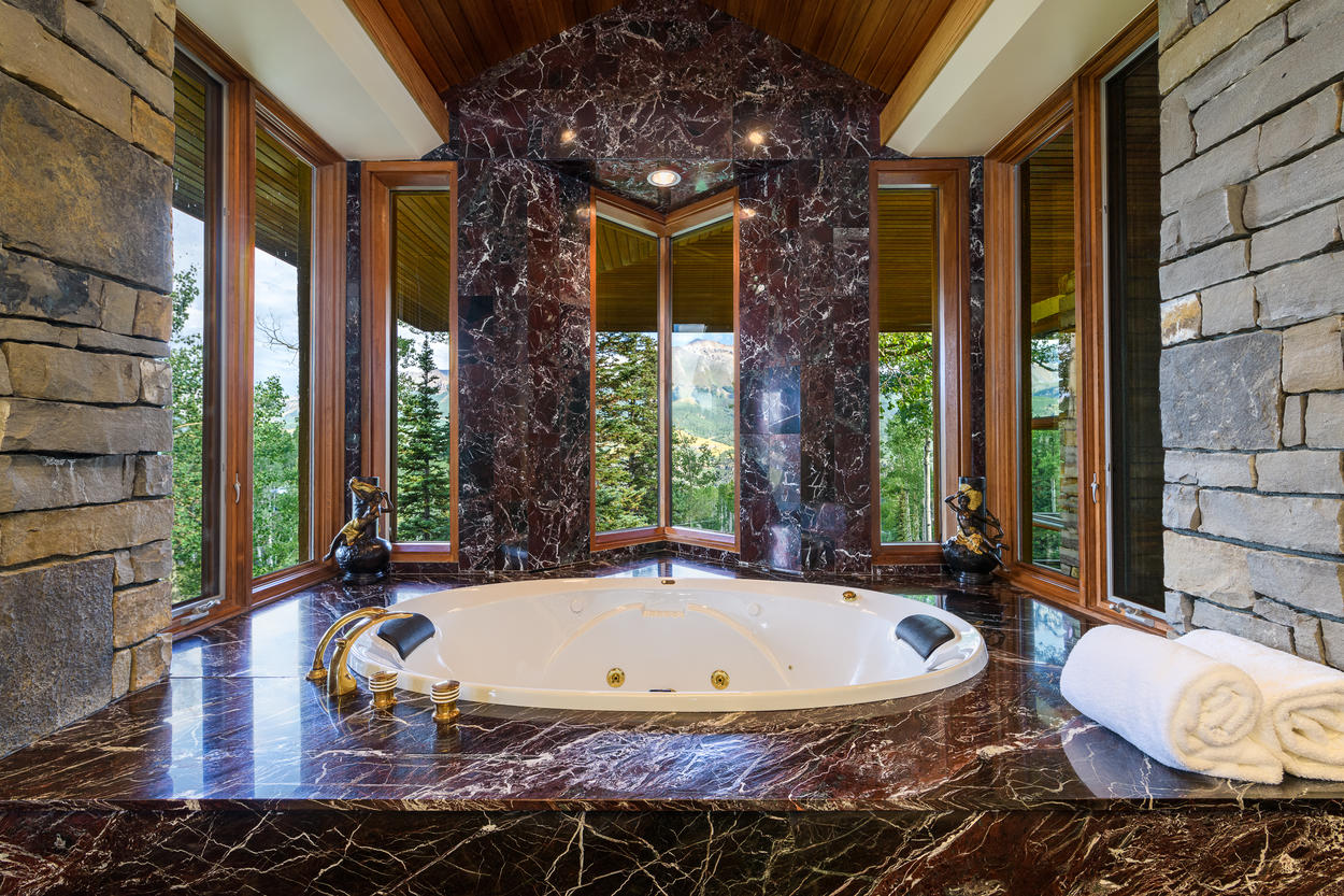 The 3rd floor Master's ensuite has a magnificent jetted tub with amazing views.