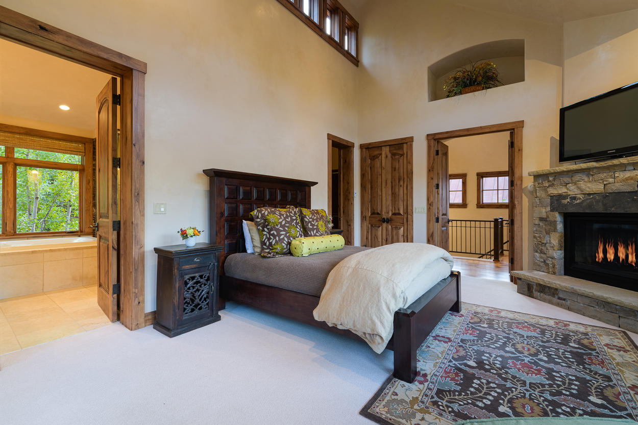 The Master Bedroom is located right at the top of the stairs.