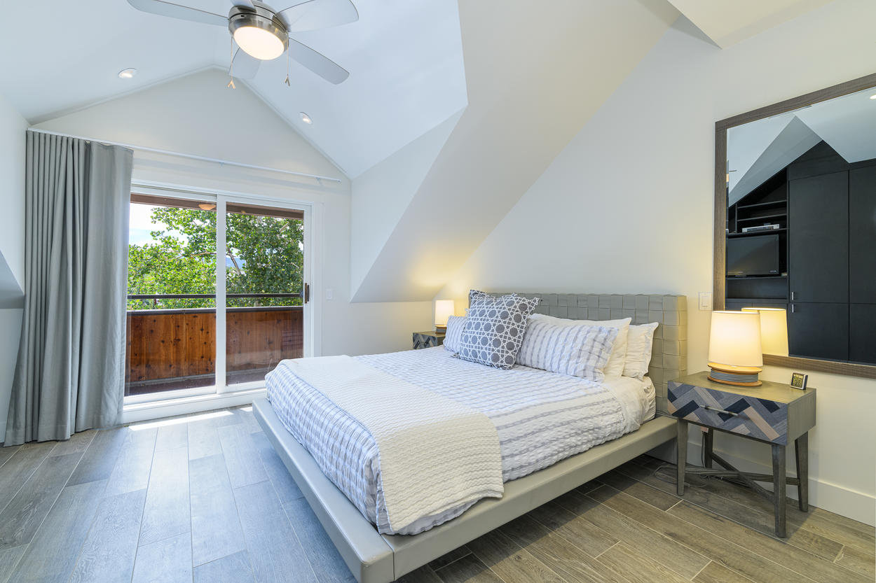 The Master Bedroom also has its own private balcony.