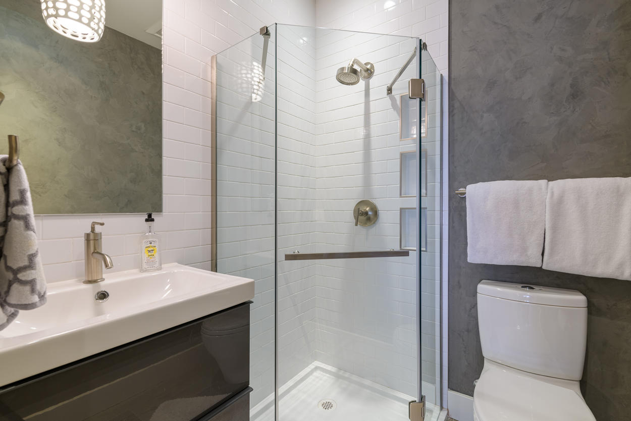 The full guest bathroom is located on the second floor.