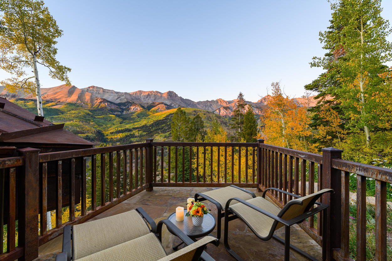 The Master Bedroom private decks affords guests stunning views at any time of day, any time of year.