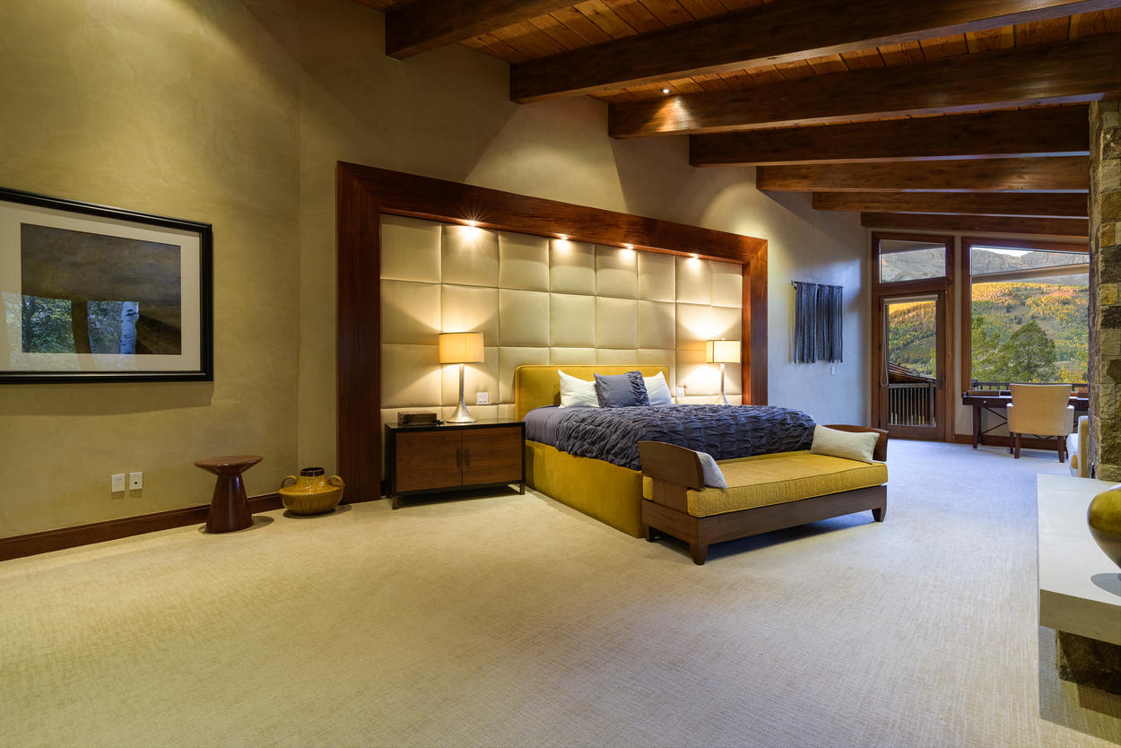 The Master Bedroom is located on the third floor, and features a king-size bed.