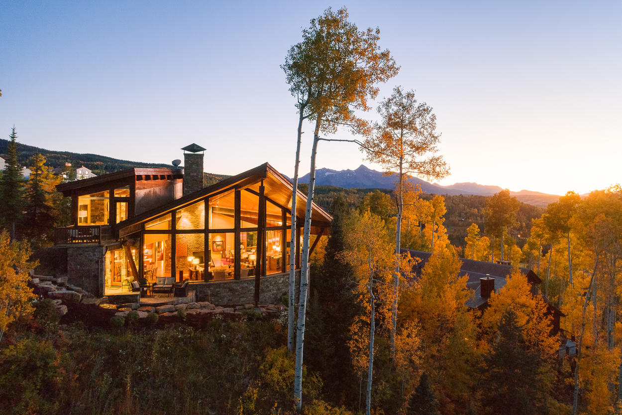 Watch the sun set behind iconic Wilson Peak from any of the indoor or outdoor living spaces.