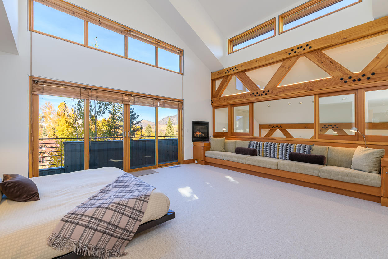 The Master Bedroom is located on the third floor and has a huge additional private living space.