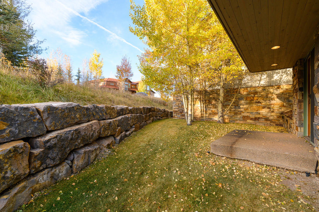 Enjoy the private yard in the back of the home.