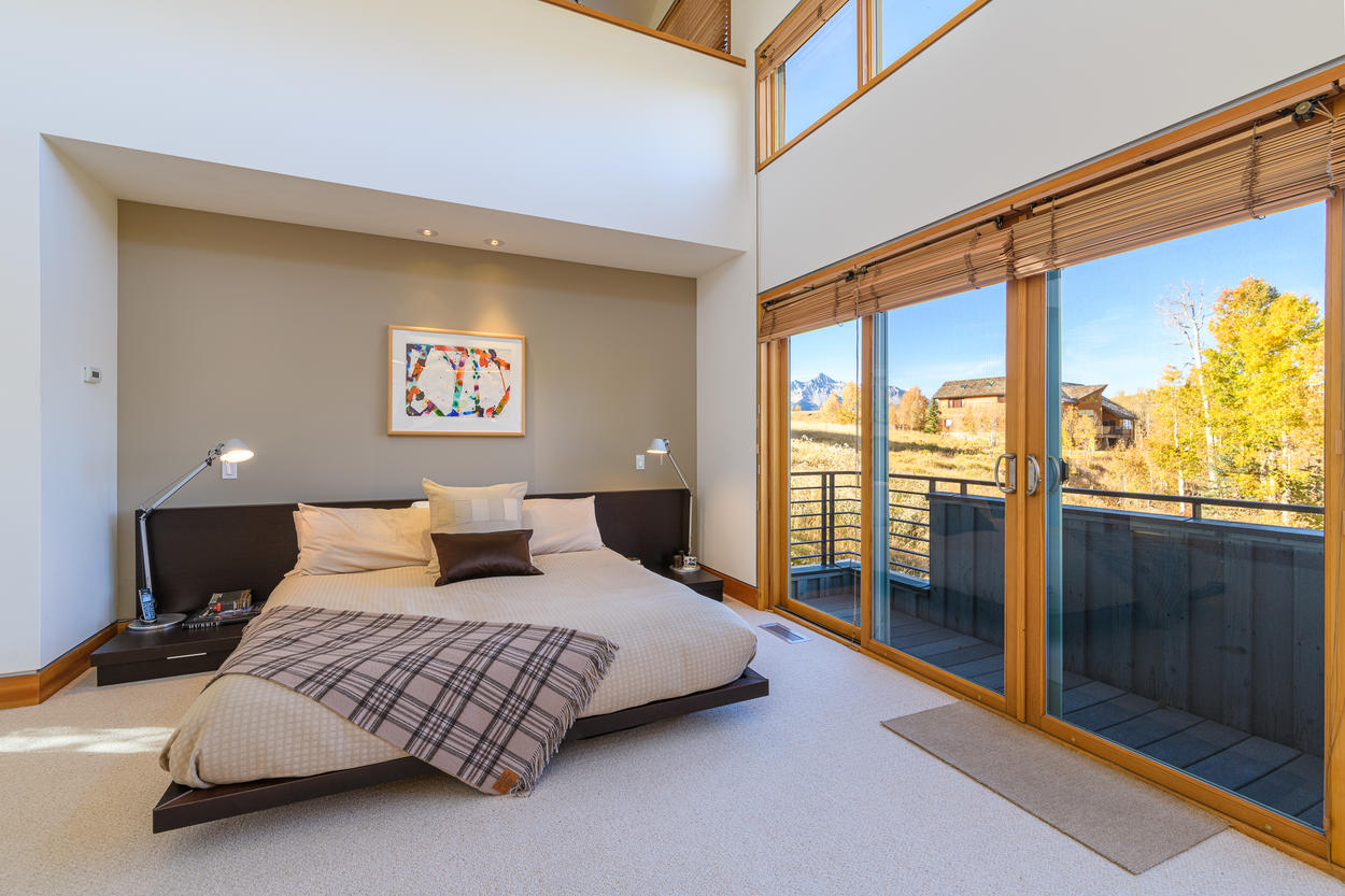 The Master Bedroom has a private standing balcony.