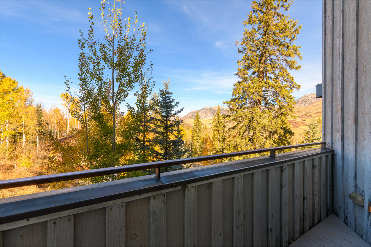 The Master Balcony has sweeping views to the south, west, and north.