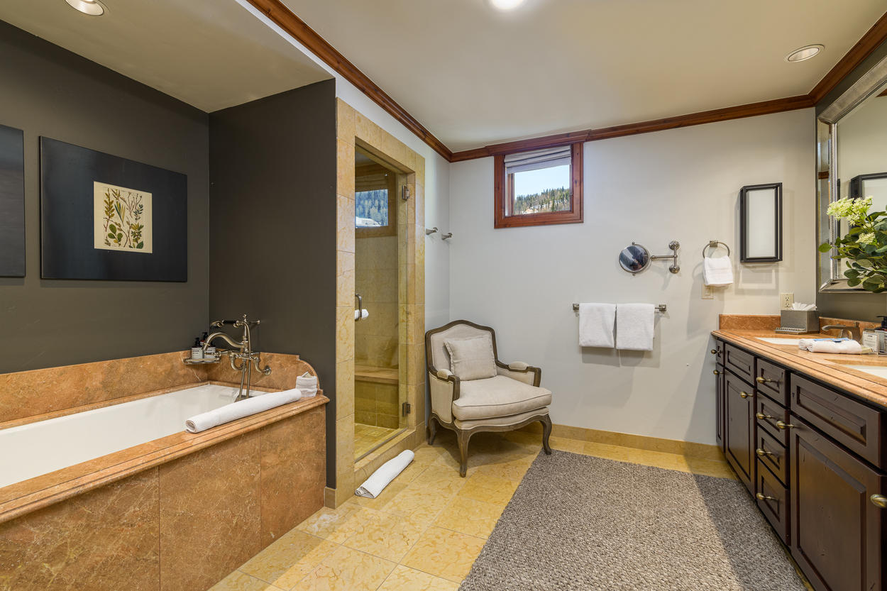 The Master Ensuite has an extended soaking tub and walk-in shower.