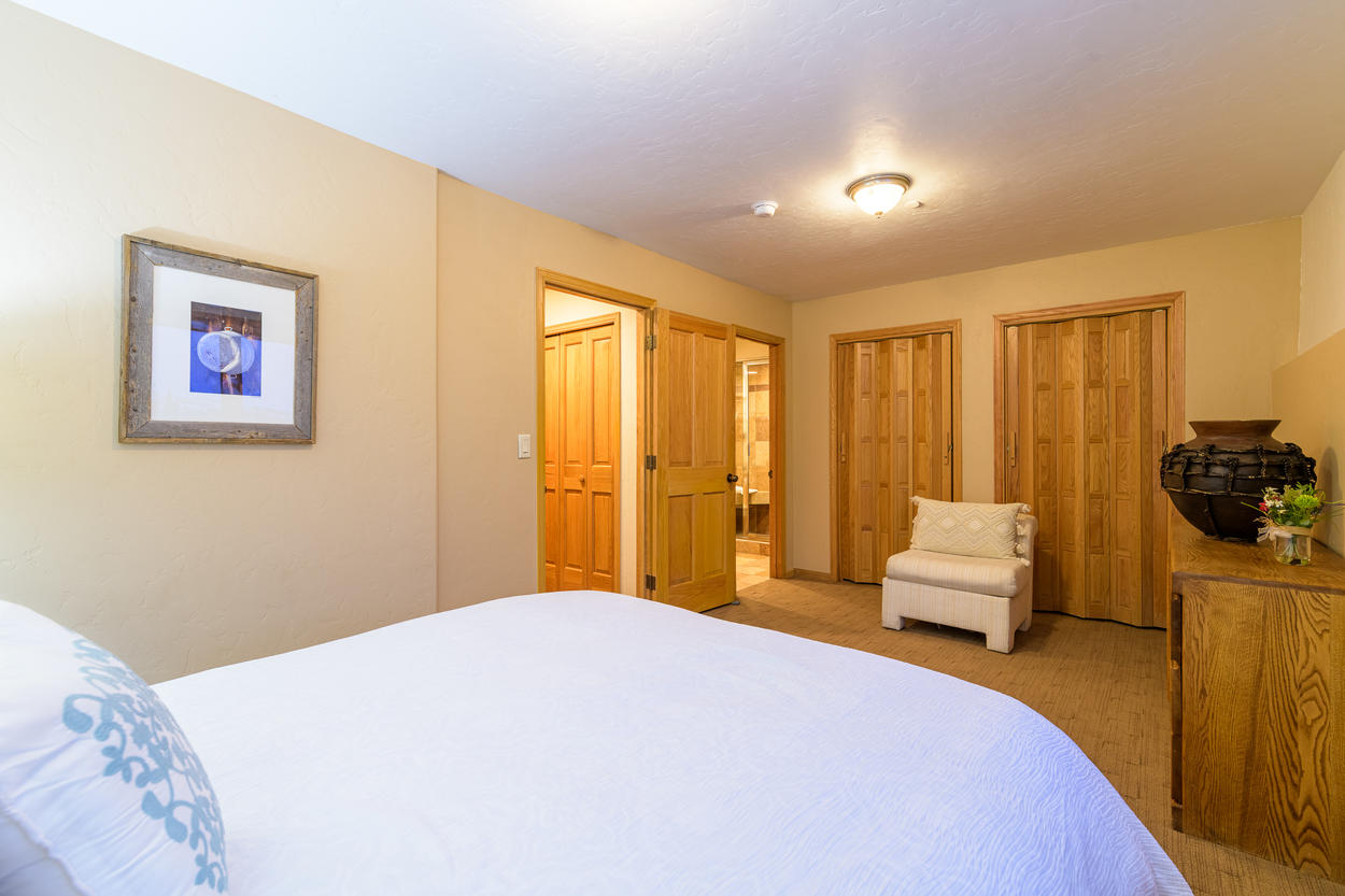 The spacious 1st floor Queen Guest Room also has its own attached ensuite bathroom.