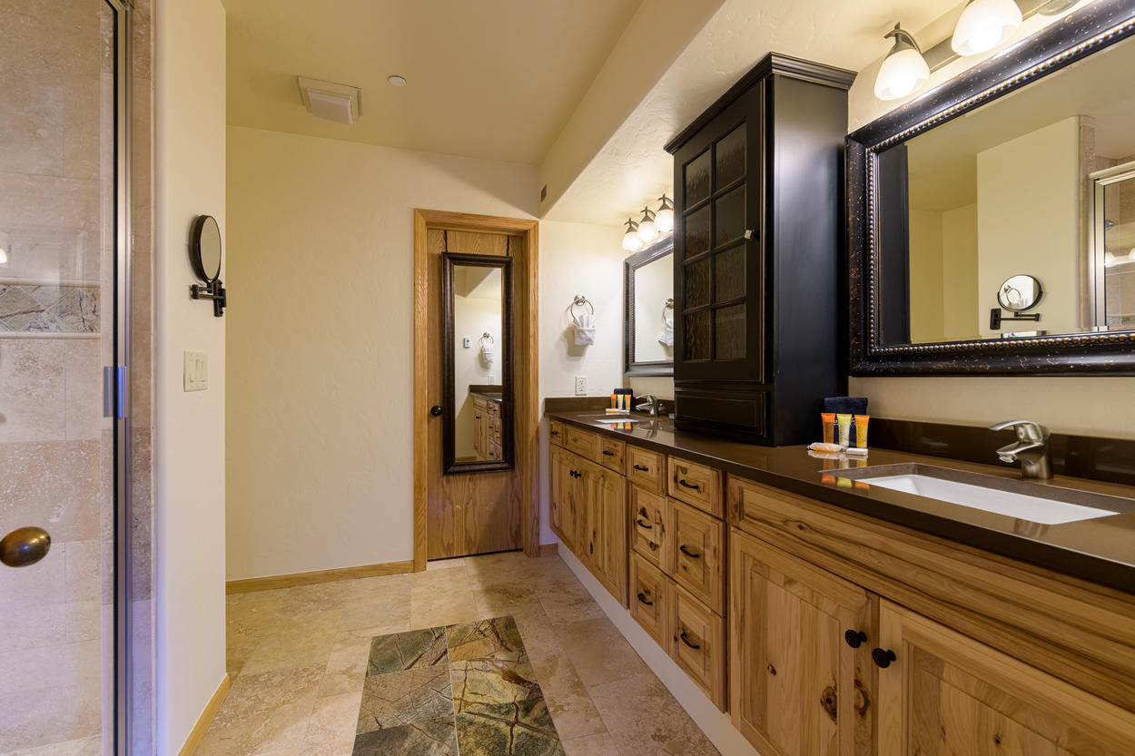 The Master Ensuite has two large vanities and a luxurious walk-in shower.